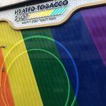 חנות הדגל בדיזינגוף סנטר בצבעי הגאווה